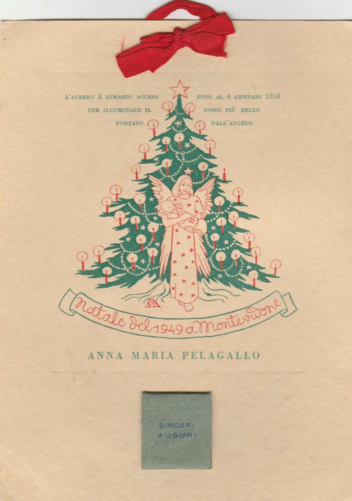 Calendario 1950.Biglietto Auguri Natale 1949 E Calendario 1950 L4178
